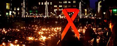 Día mundial contra el sida en Dinamarca. (AP)