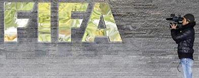 Acceso principal a la sede de la FIFA. Reuters