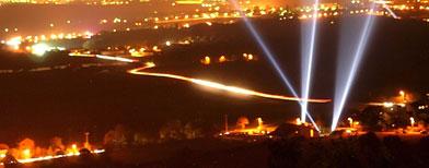 El CERN iluminado dede la superficie / AP