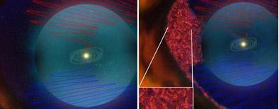 La visión vieja y la nueva del límite de la heliósfera/Foto tomada de la NASA