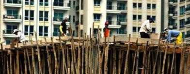 Pembangunan gedung (Foto: Tempo)