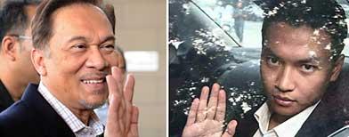 Anwar Ibrahim (kiri) dituduh meliwat Mohd Saiful Bukhari Azlan (kanan) (Foto AFP)