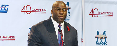 Magic Johnson (Photo by Tommaso Boddi/Getty Images)
