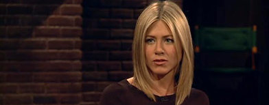 Jennifer Aniston on 'Inside the Actor's Studio' (screengrab courtesy Bravo)