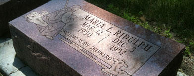 The grave site of Maria Ridulph at Elmwood Cemetery is shown in Sycamore, Ill., on Saturday, July 2, 2011. (AP Photo/ Barbara Rodriguez)