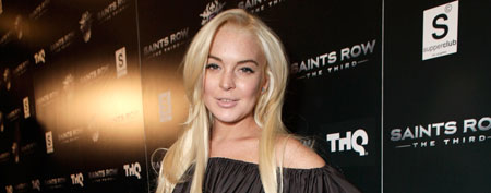 LOS ANGELES, CA - OCTOBER 12: Lindsay Lohan attends the Saints Row: The Third Sneak Peek Premiere at SupperClub Los Angeles on October 12, 2011 in Los Angeles, California. (Photo by Todd Williamson/WireImage)