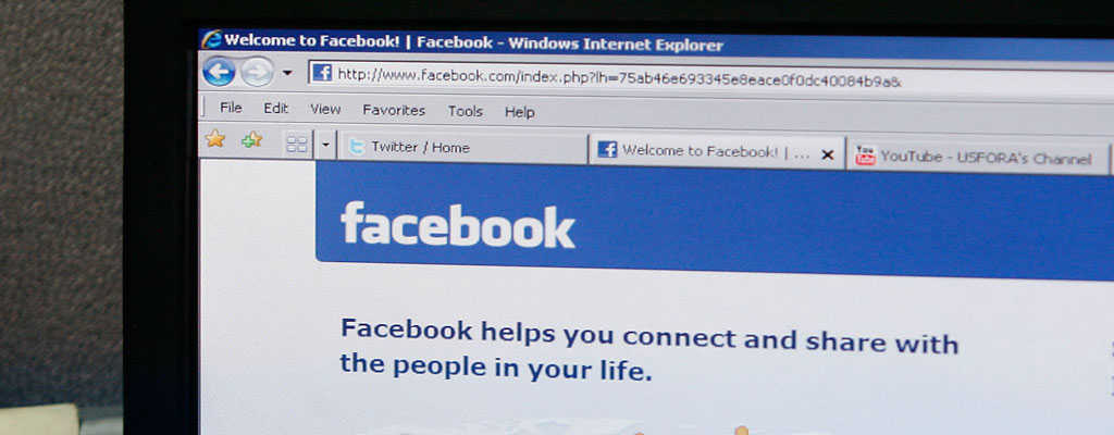Facebook login page.  (AP Photo/Musadeq Sadeq)