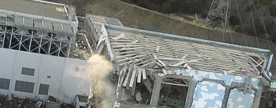 An aerial view shows Fukushima Daiichi nuclear power plant in Fukushima March 17, 2011.   (REUTERS/Kyodo)