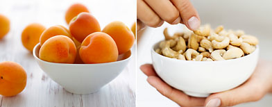 Photos (L-R) Apricots, nuts: Thinkstock