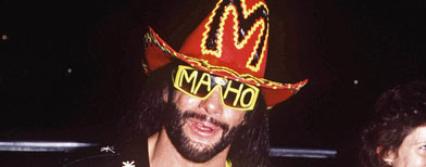 Professional Wrestler: Randy Savage. (Photo By Russell Turiak/Getty Images)
