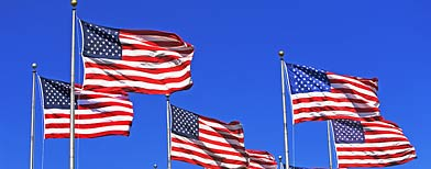 American flags (Corbis)