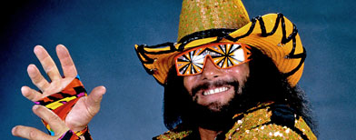 "Professional wrestler Randy ""Macho Man"" Savage. (AP Photo/WWE)"