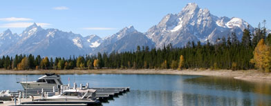 Grand Teton Range from Colter Bay (Thinkstock)