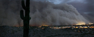 Massive dust storm covers Phoenix, Ariz., Tuesday, July 5, 2011. (AP Photo/The Arizona Republic, Rob Schumacher)