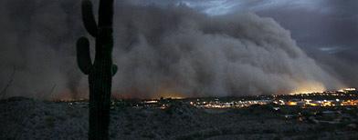 Massive dust storm covers Phoenix, Ariz., Tuesday, July 5, 2011. (AP Photo/The Arizona Republic, Rob Schumacher)