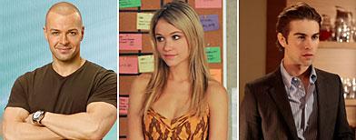 (L-R)  Joey Lawrence (Bob D'Amico/ABC); Katrina Bowden (Ali Goldstein/NBC); Chace Crawford (Giovanni Rufino/CW)