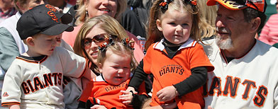 San Francisco Giants fans. (Greg Trott/Getty Images)