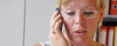 Woman talking on cell phone. (iStockphoto)