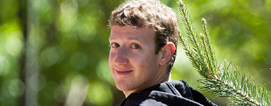 Mark Zuckerberg outdoors.  (AP Photo/Nati Harnik)