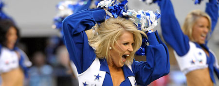 Dallas Cowboys cheerleader Kelsi Reich. (Photo by Kirby Lee/Image of Sport)