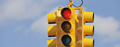 Red traffic light (Thinkstock)