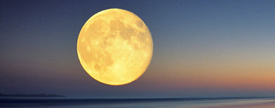 Full moon on horizon (Corbis)