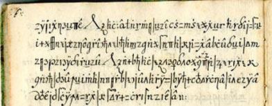 """""""Copiale Cipher"""" (Cortesía de la Universidad del Sur de California)"""