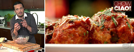 Chef Fabio's recipe for perfect meatballs. (Chow Ciao! on Yahoo!)