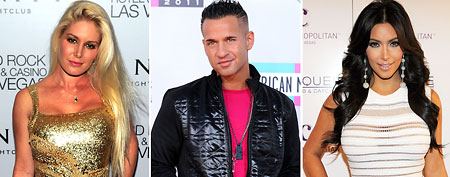 (L-R) Heidi Montag (Steven Lawton/FilmMagic); Mike 'The Situation' Sorrentino  (Jon Kopaloff/FilmMagic); Kim Kardashian (Denise Truscello/WireImage)