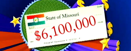 The state of Missouri paid $6.1 million in unclaimed cash to a Kansas City woman. (ABC video)