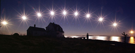The sun, nearing winter solstice, in multiple-exposure image (Robert F. Bukaty/AP)