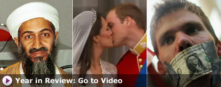 Osama bin Laden, royal wedding, and Wall Street protest (Yahoo! video)