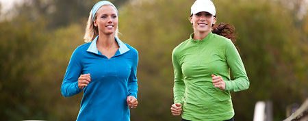Women jogging. (Corbis)
