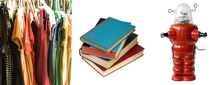 Clothes, books, toy. (ThinkStock)