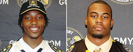Kevon Seymour of Muir High in Pasadena, Ca. and Mike Davis of Stephenson High in Stone Mountain, Ga. (Rivals.com)