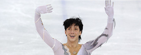 Johnny Weir of the United States competes in the 2010 Olympics. (Photo by Jasper Juinen/Getty Images)