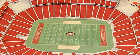 Model for the planned new home stadium of the San Francisco 49ers  (AP Photo/Paul Sakuma)