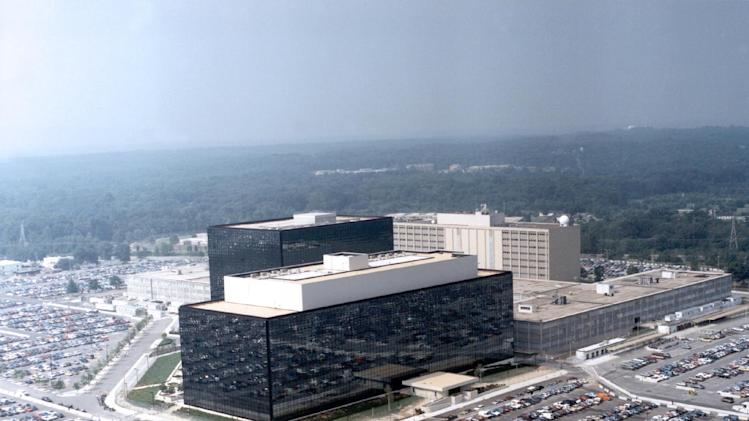 "This undated US government photo shows an aerial view of the National Security Agency (NSA) in Fort Meade, Md. The Obama administration on Thursday defended the National Security Agency's need to collect telephone records of U.S. citizens, calling such information ""a critical tool in protecting the nation from terrorist threats."" (AP Photo/US Government)"