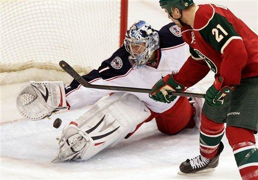 Umberger's 2 goals give Jackets 3-1 win over Wild