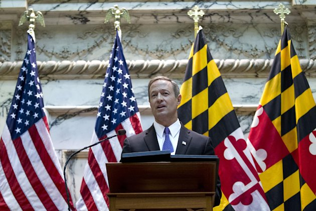 FILE - In this Jan. 30, 2013, file photo, Maryland Gov. Martin O'Malley delivers his sState of the State address in Annapolis Md. His latest legislative achievements put him on the vanguard of his par