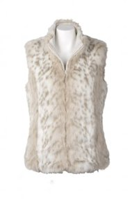 dressbarn Faux Fur Animal Print Vest $59.99