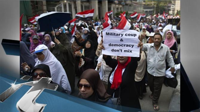 Cairo Breaking News: Morsi Supporters March on Army Intelligence Headquarters