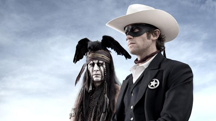 The first image from Johnny Depp's upcoming film 'The Lone Ranger,' co-starring Armie Hammer