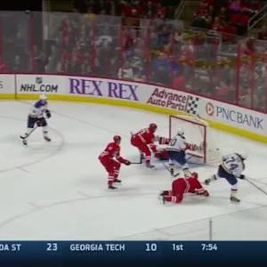 Cam Ward Save on Barret Jackman (17:47/1st)