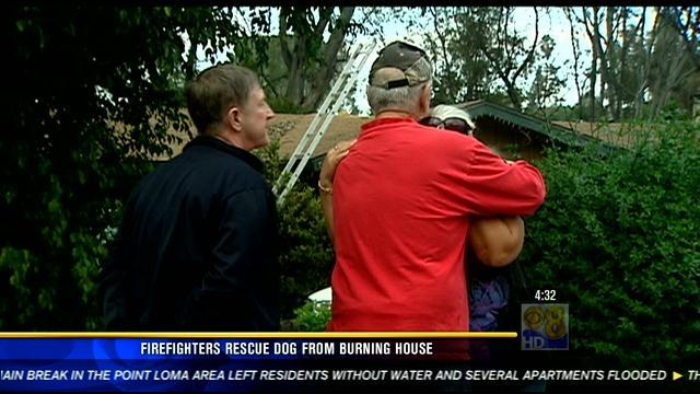 Firefighters rescue pet dog from burning home in Vista