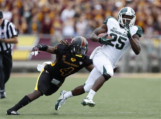 No. 11 Michigan St routs Central Michigan 41-7