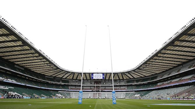General view of Twickenham Stadium before the match