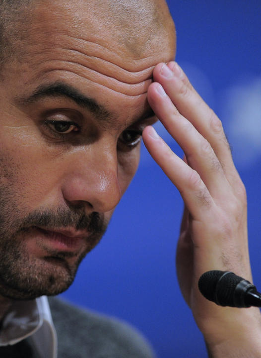 Barcelona's Coach Josep Guardiola Gestures AFP/Getty Images