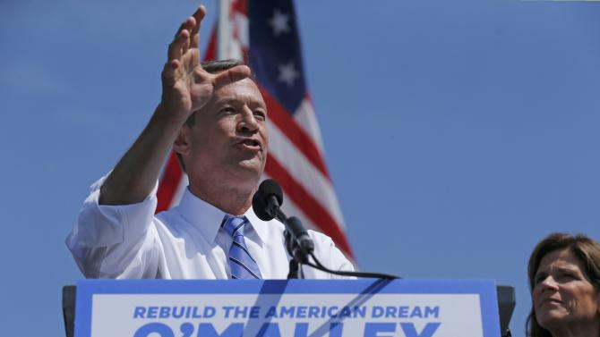 Former Maryland Governor Martin O'Malley announces his intention to seek the Democratic presidential nomination in Baltimore, Maryland