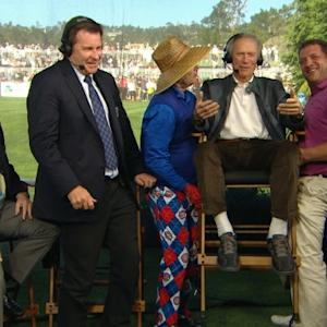 Harris Barton and Bill Murray interview during Rnd 3 of AT&T Pebble Beach